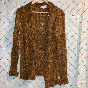 Chenille Sweater Cardigan
